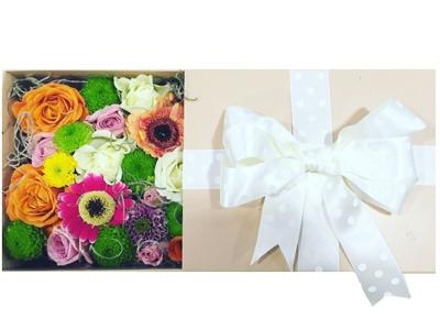 Missfleur – Cutie pastel cu flori si funda